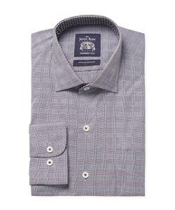 Saville Row | Cotton Checkered Dress Shirt