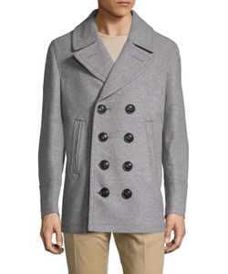 Burberry Brit | Kirkham Wool Double Breasted Peacoat