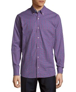 TailorByrd | Checkered Cotton Button-Down Shirt