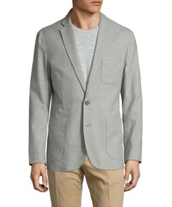 Shades Of Grey By Micah Cohen | Line Linen Notch Lapel Blazer