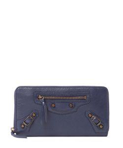 Balenciaga | Classic Continental Zip Around Leather Wallet