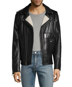 Karl Lagerfeld | Karl Asymmetrical Leather Moto Jacket
