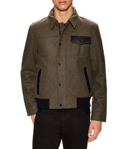 VICTORINOX | Wilhelm Wool Leather Trimmed Jacket