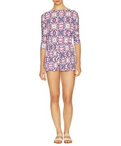 Rachel Pally | Edun Print Wrap Back Playsuit