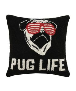 Phi | Pug Life Hand-Hooked Pillow