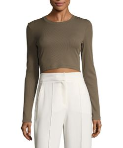 Torn By Ronny Kobo | Ribbed Crop Top