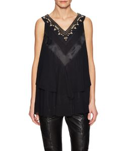 Pierre Balmain | Embellished Tiered Sleeveless Top