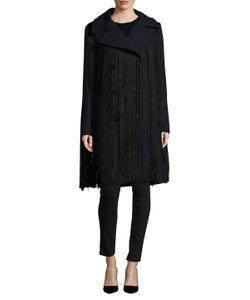 Nina Ricci | Wool Double Breasted Fringe Coat