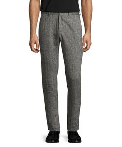 Shades Of Grey By Micah Cohen | Linen Woven Suit Trousers