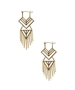 Noir | Geometric Cut-Out Drop Earrings