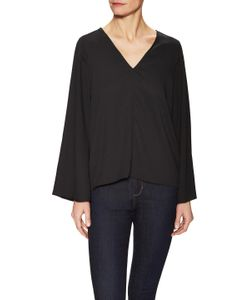 Lucca Couture | V-Neck Flare Sleeve Top