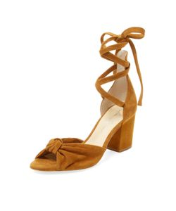 Isa Tapia | Carina Suede Lace-Up Sandal