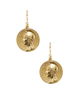 Kenneth Jay Lane | Satin Large Coin Leverback Earring