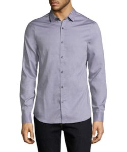 ARMANI EXCHANGE | Solid Cotton Sportshirt