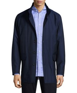 Isaia | Stand Collar Wool Jacket
