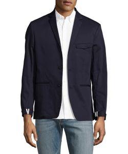 DAVID NAMAN | Cotton Solid Blazer