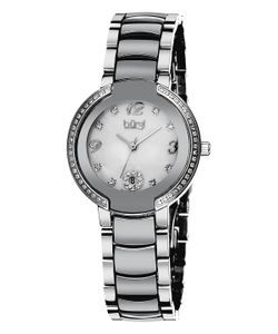 Burgi | Stainless Steel Mother Of Pearl Dial Watch 32mm