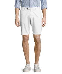 DAVID NAMAN | Solid Cotton Shorts