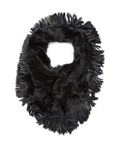 JOCELYN | Oversized Rabbit Fur Infinity Scarf