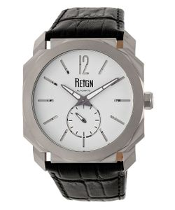 Reign | Maximus Automatic Leather Watch 44mm