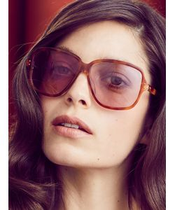 LINDA FARROW LUXE | Oversized Tinted Square Frame