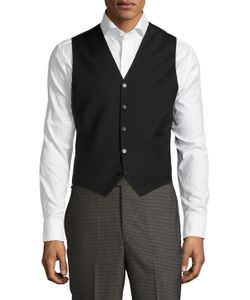 Blk Dnm | Solid Buttoned Vest