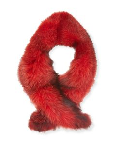 Karl Lagerfeld | Dyed Fox Scarf
