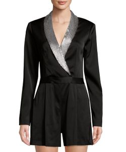 Alice And Olivia By Stacey Bendet | Shawl Lapel Banded Romper