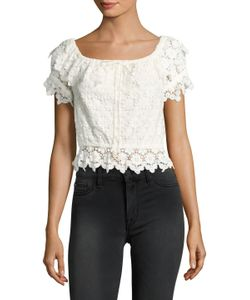 Winston White | Farrah Cotton Embroidered Lace Top
