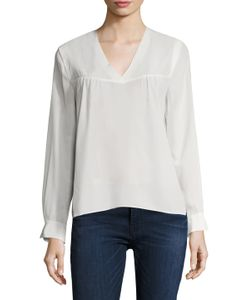 Maje | Silk Inverted Pleat Top