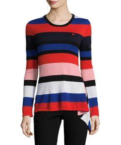 Love Moschino | Asymmetrical Striped Wool Sweater