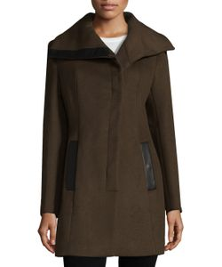 Soia & Kyo | Asymmetrical Wool Blend Coat