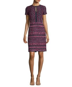 Oscar de la Renta | Printed Short Sleeve Dress