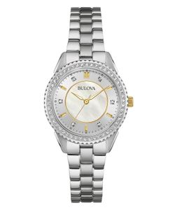 BULOVA | Mother Of Pearl Stainless Steel Watch 30mm
