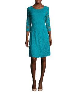 Josie Natori | Stretch Lace Flared Dress