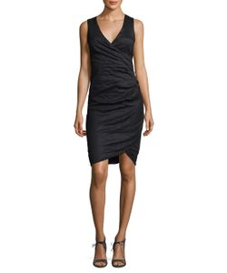 Nicole Miller | Cotton Ruched Sheath Dress