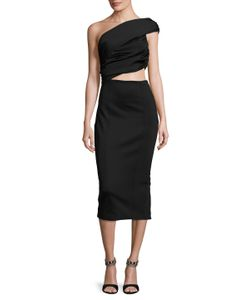 Misha Collection | Beradonna Asymmetrical Sheath Dress