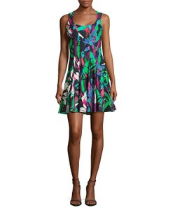 Nicole Miller | Crisscross Back Printed Dress