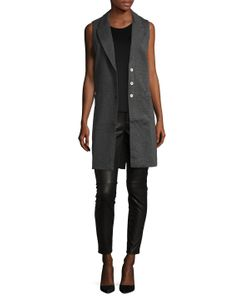 Three Dots | Side Welt Front Button Vest