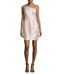 Shoshanna   Embellished One Shoulder Sheath Dress