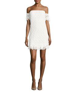 Winston White | Barcelona Cotton Off Shoulder Sheath Dress