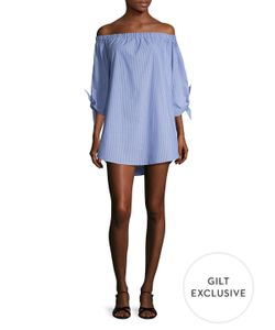 Lucca Couture | Bowtie Sleeves Off Shoulder Shift Dress