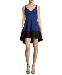 Black Halo | Hi-Lo Fit-Amp-Flare Dress
