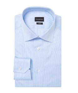 Ermenegildo Zegna | Stripe Cotton Dress Shirt