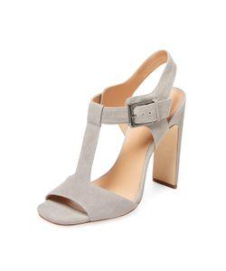 Halston | Suede T-Strap Sandal