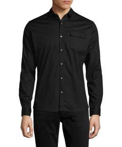 DAVID NAMAN | Long Sleeve Cotton Sportshirt
