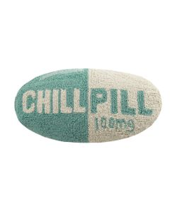 Phi | Chill Pill Hand-Hooked Pillow