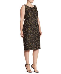 Max Mara | Elegante Leaf Patterned Dress