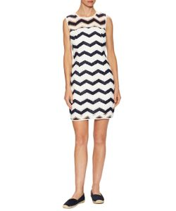 Milly | Cotton Seamed Strip Shift Dress