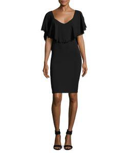 DRESS THE POPULATION | Delilah Solid Dress